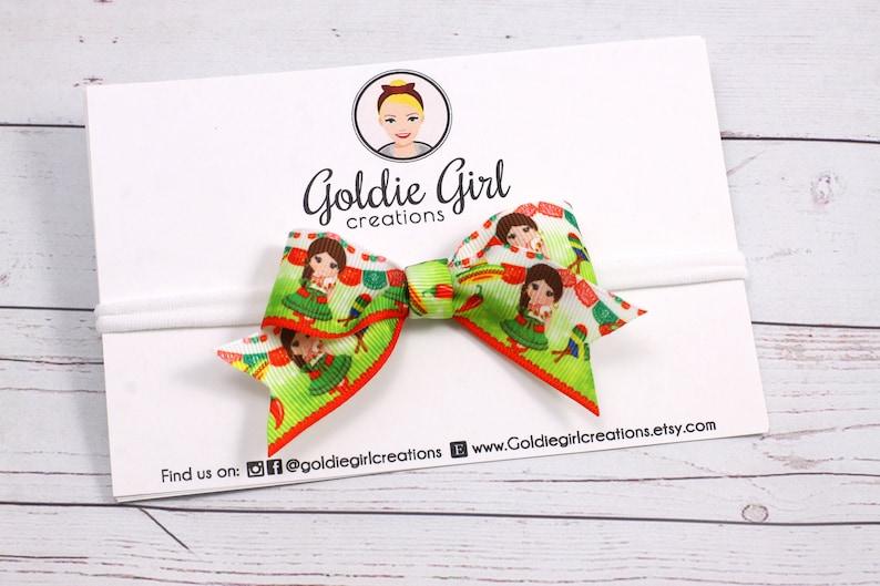 bow headband Fiesta Girl nylon headband baby girl headband girl hair accessories hair bows baby bows