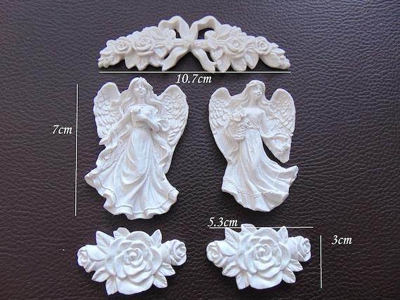 Shabby /& Chic *Cherub Angel Applique* Furniture Applique Embellishment