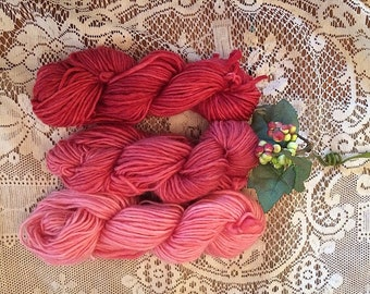 Great for rug hooking hand-dyed gradient mini skeins single ply and Oxford Punch. knitting worsted yarn Lavender: Set of 3