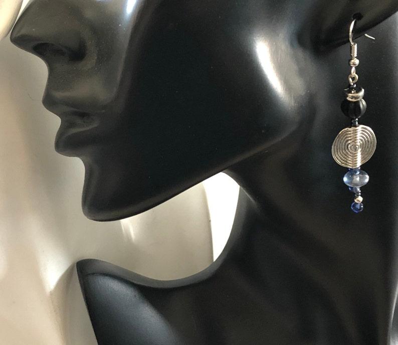 Pair or unpair eternal love earrings Unique long asymmetric geometric Mix or mismatch silver spiral earring Mother sweetheart friend jewelry