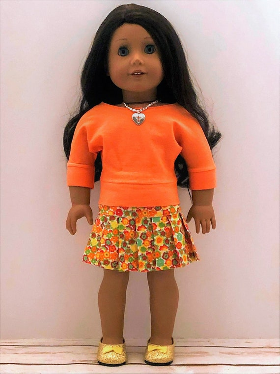 DOLL CLOTHES  short skirt red fits American Girl
