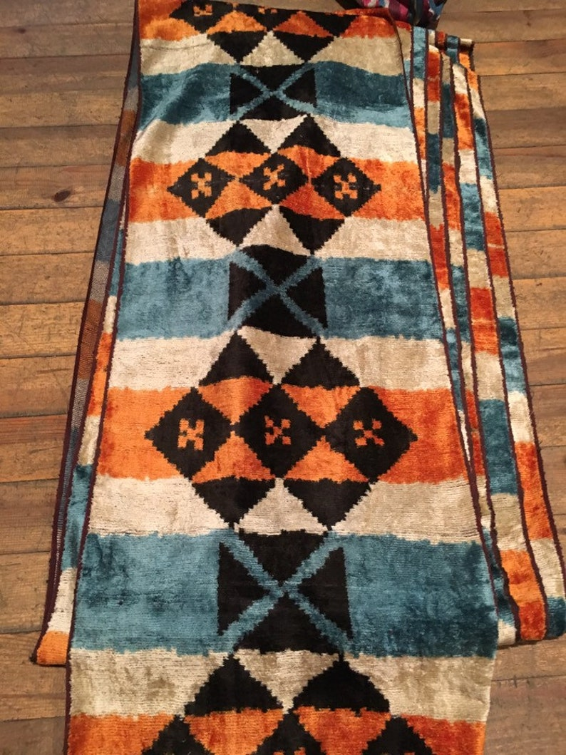 ikat velvet fabric,handmade silk ikat,ikat velvet,uzbeki Fabric fine silk ikat handloom ikat velvet ikat by the yard velvet ikat silk