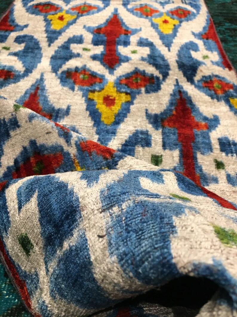 velvet ikat silk velvet ikat by the yard fine silk ikat ikat velvet fabric,handmade silk ikat,ikat velvet,uzbeki Fabric handloom ikat