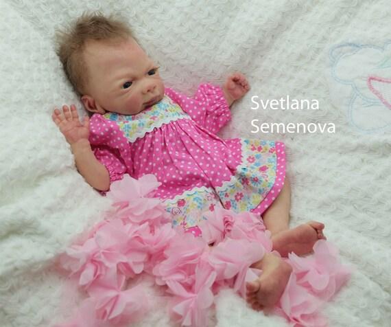 Full body silicone baby  boy 11cm 4.3 in by Svetlana Semenova