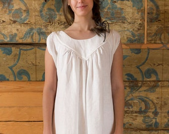 4ca85b7d4f Vecpiebalgas Treasure - Linen Nightdress linen nighty linen nightgown