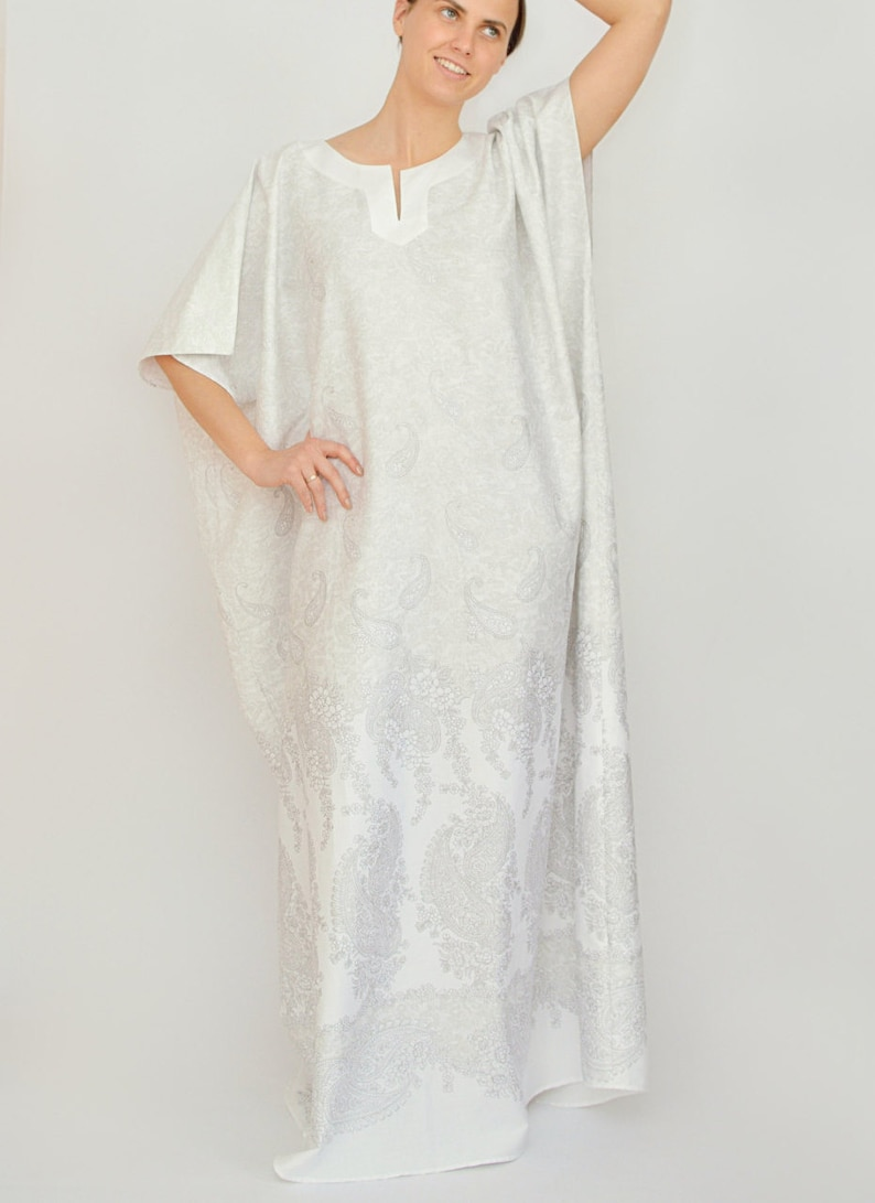 343a4117aa Kaftan soft cotton morning gown robe cotton night gown
