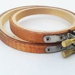 3 or 4 Inch- American Walnut Hand-Stained Wooden Embroidery Hoops; Stitching Hoop; Display Hoop; Embroidery Frame