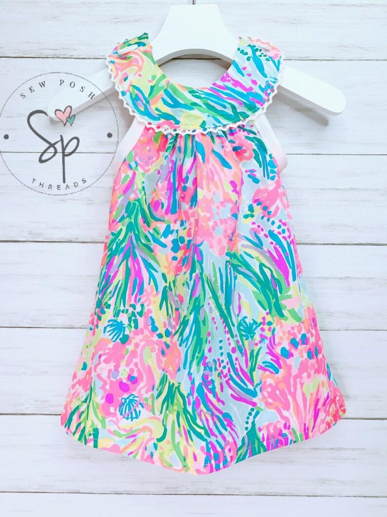 0a881eae8 Baby dress handmade lilly pulitzer mermaid cove baby girl | Etsy