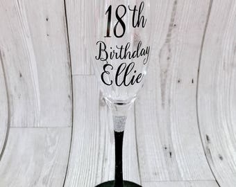 Birthday Champagne Flute Prosecco glass