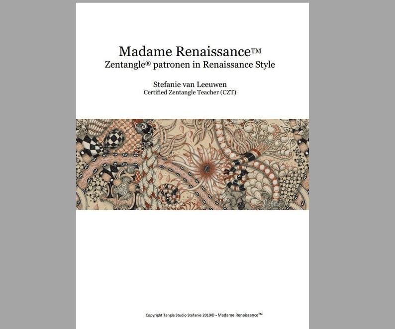 Nederlands E-Book Madame Renaissance  Zentangle® patronen in image 0