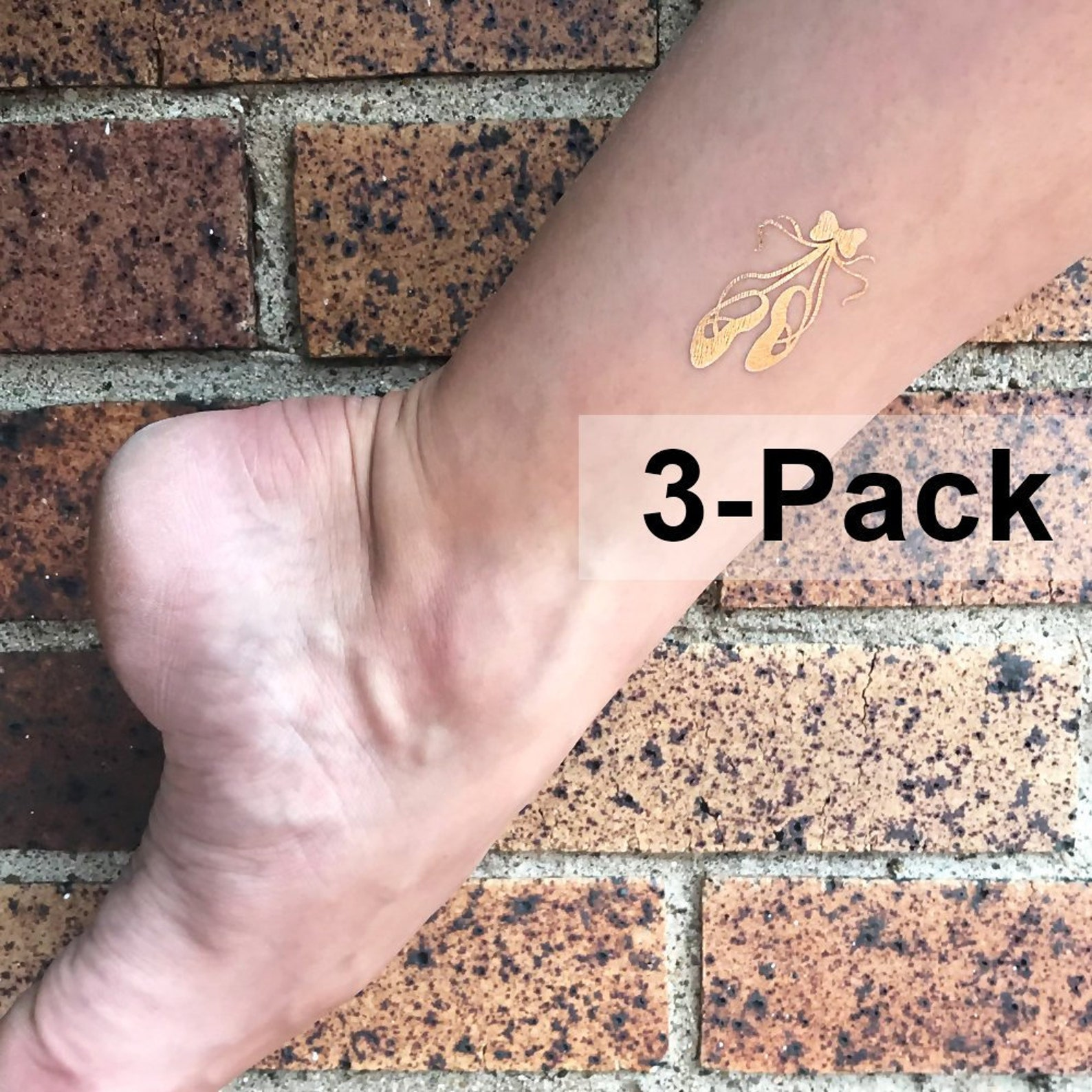 ballet shoes tattoo, gold dance tattoos, cute dancing ballerina shoes, golden jewelry tattoos, temporary transferable tats, body