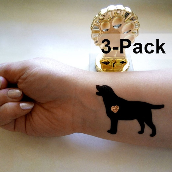 Perro Tatuajes Etiquetas Engomadas Del Tatuaje Temporal De Etsy