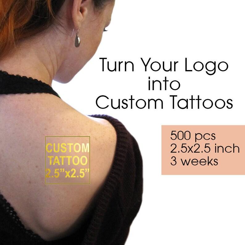 Turn Your Logo Into Tattoo Custom Tattoos Gold Temporary | Etsy