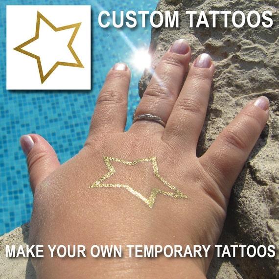 Custom Temporary Tattoos Make Your Own Metallic Tattoos | Etsy