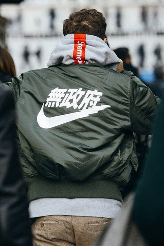 nike jacket japanese writing