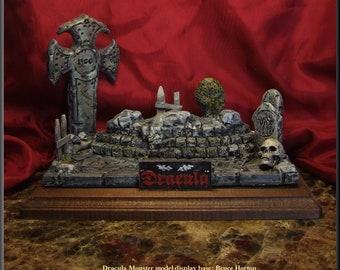Cemetary Graveyard Monster resin display model base.