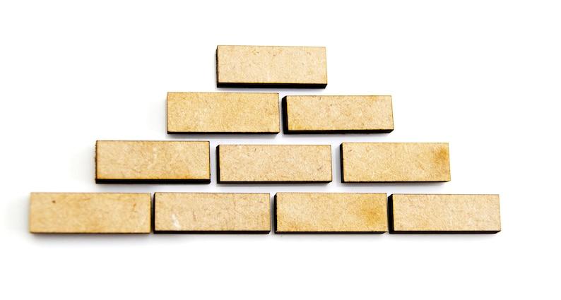 10x wooden Bricks DIY Craft, DIY Supplies, Shape Craft Blank Animal craft  supplies,DIY wedding, Wedding decorations, card making,
