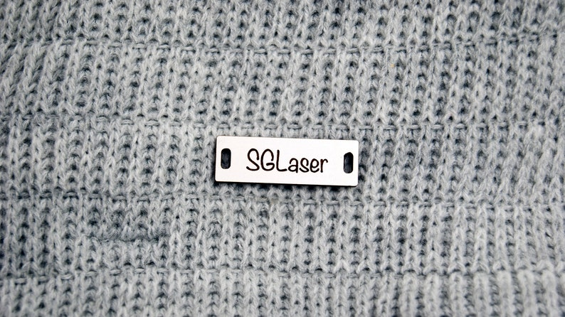 clothing labels custom sew in labels Personalised engraved sew on labels wooden tags for knitted items personalized