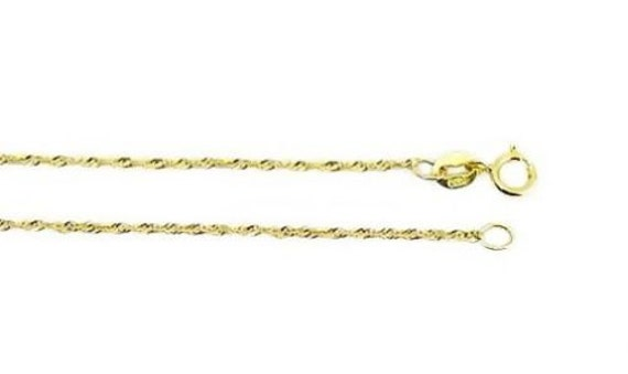 10k Valu-plus Sparkle-Cut Lightweight Chain Necklace in Yellow Gold Choice of Lengths 16 18 20 24 30 and Variety of mm Options