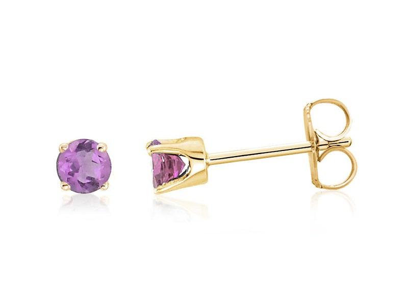 9482c0edc 14K Amethyst Earrings 14K Yellow Gold Light Purple Amethyst | Etsy