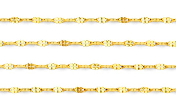 14k Link Chain Necklace in White Gold Choice of Lengths 16 18 20 24 and 1.1mm 1.7mm