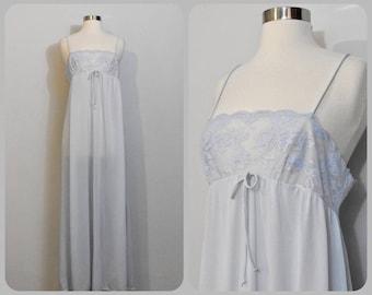 Blue 1960s Olga Nightgown -