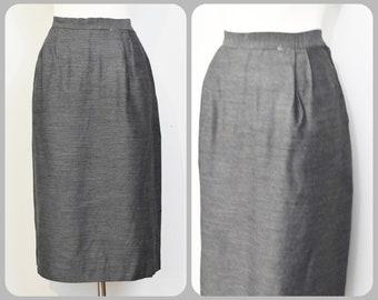 Gray 50s60s Wiggle Skirt