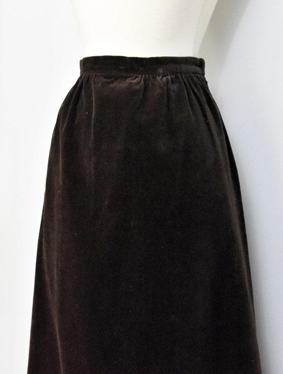 Nelly De Grab Brown Velvet Maxi Skirt - image 5