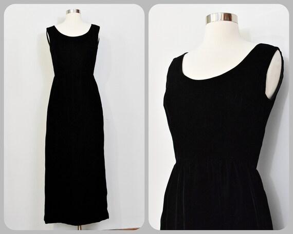 Nat Kaplan New York Velvet 60s Maxi Dress