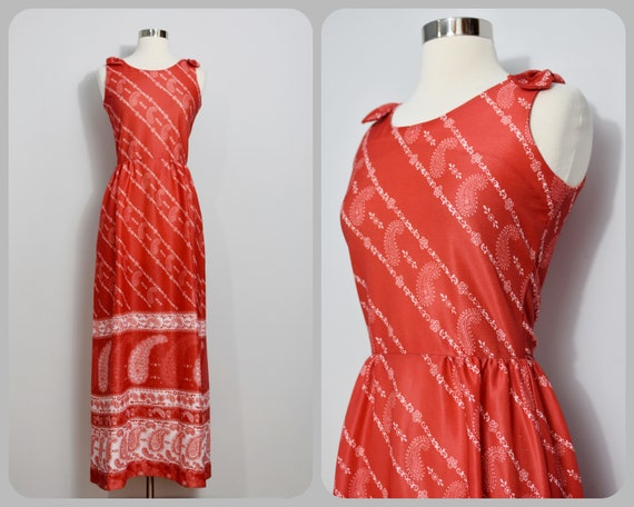 CLEARANCE! Carole King Red Paisley Maxi Dress