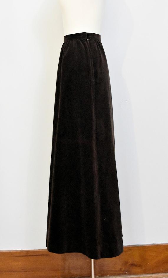 Nelly De Grab Brown Velvet Maxi Skirt - image 3