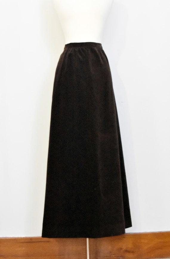 Nelly De Grab Brown Velvet Maxi Skirt - image 2