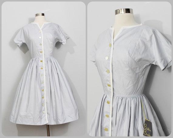 Bobbie Brooks Juniors Blue/White Shirtwaist Dress