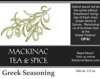 GREEK SEASONING - Gyro spices - Makes a good Tzatziki sauce