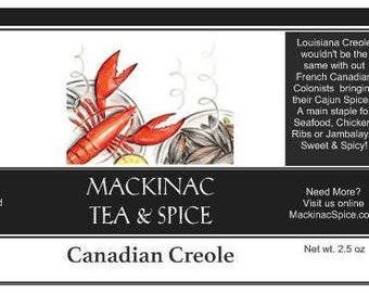 CANADIAN CREOLE - Seafood Seasoning, good for Bbq ribs and Jambalaya's too