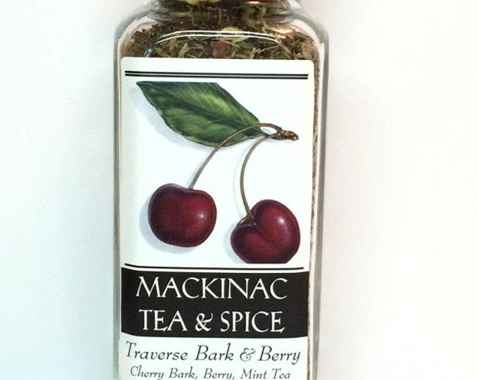 TRAVERSE BARK & BERRY- A Tart Wild Cherry Tea/ Mint/ Citrus Fruit Tea