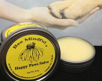 Happy Paws Salve, Paw Pad Salve, Paw Pad, Nose Salve, Bee Mindful Paw Salve, Beeswax Paw Salve, Dog Paw Care, Dog Paw Pad Care, Paw Pad Care