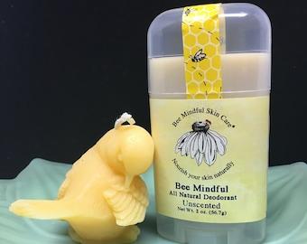 Bee Mindful Beeswax Deodorant, Natural Beeswax Deodorant, Unscented Natural Deodorant, Paraben Free Deodorant, Aluminum Free Deodorant