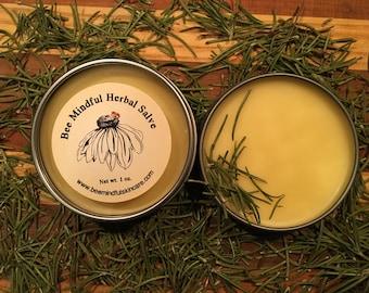 Honeybee Hand Salve, Hand Salve, Healing Salve, Skin Repair, Beeswax Herbal Salve, Natural Rosemary Beeswax Salve, Natural Skincare, Salve,