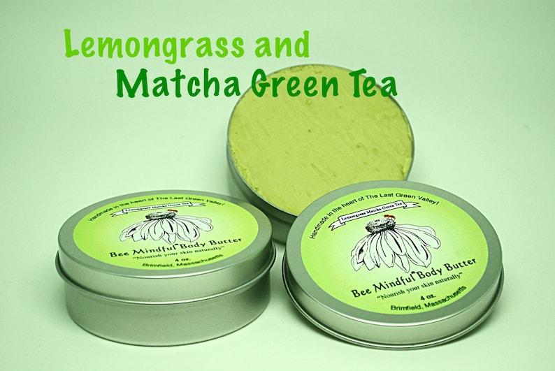 Bee Mindful Body Butter Matcha Green Tea Lemongrass Body image 0