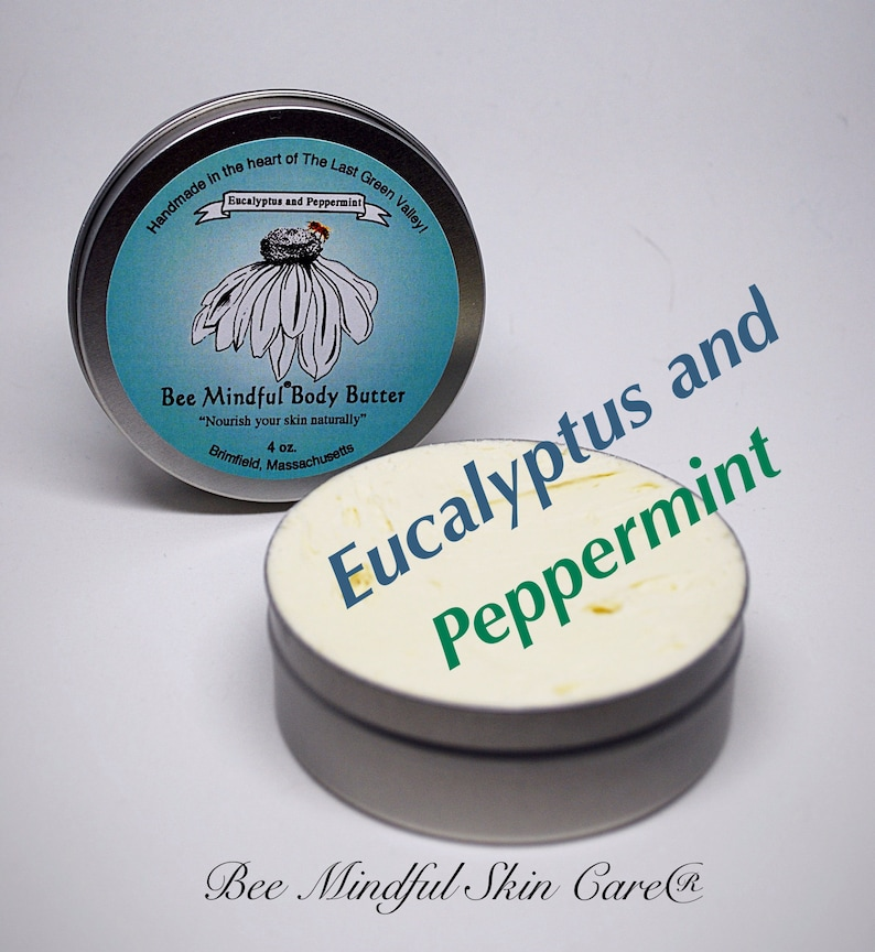 Bee Mindful Body Butter Peppermint Body Butter Eucalyptus image 0
