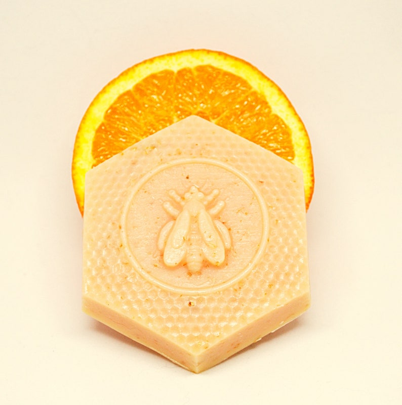 Queen Bee Honey Soap Orange Lemongrass Soap Bee Mindful image 0