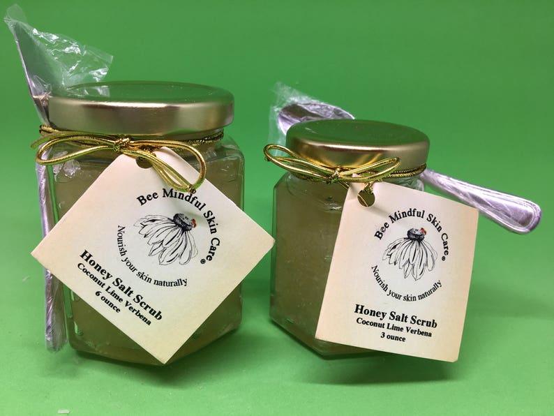 Honey Salt Scrub Body Scrub Natural Honey Sea Salt Scrub image 0