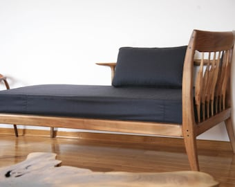 Wool covered daybed