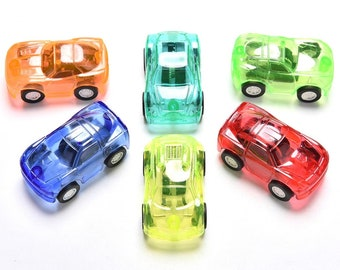 PONTIKI CHOVICA CAR Pull Back Action FULL SET of ALL 4 Retired Toy Japan New