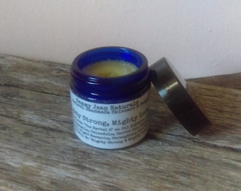 Mighty Strong, Mighty Long Nail Butter/Raw Shea/Virgin Coconut Oil/Herbal 8 Oil Infusion/Carrot Oil/Perilla Seed Oil/Copiba Balsam/Myrrh