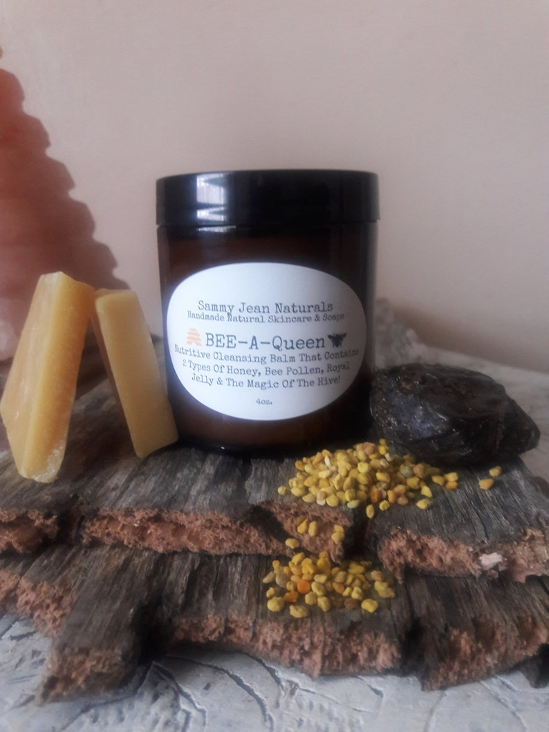 Cleansing Balm/Bee Power/Royal Jelly/Bee Pollen/Propolis/Organic  Ingredients/Jasmine/Neroli/Cardamom/Raw Honey/Manuka Honey/Anti Aging