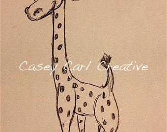 Happy Giraffe Sketch