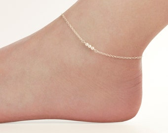 Ankle Bracelet Crystal Anklet India Traditional Silver Tone Sea Barefoot Jewelry Bright In Colour Anklets