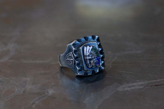 Indian Chief Mexican Biker Ring - image 2